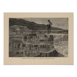 Mammoth Hot Springs view Poster