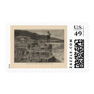 Mammoth Hot Springs view Stamps