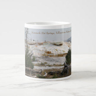 Mammoth Hot Springs, Yellowstone National Park Giant Coffee Mug