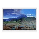 Mammoth Hot Springs, Yellowstone National Park Poster