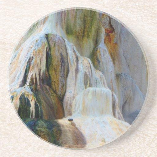 Mammoth Hot Springs Yellowstone Posavasos Para Bebidas