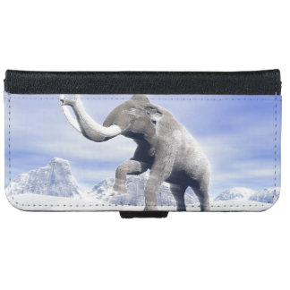 Mammoth in the wind iPhone 6/6s wallet case