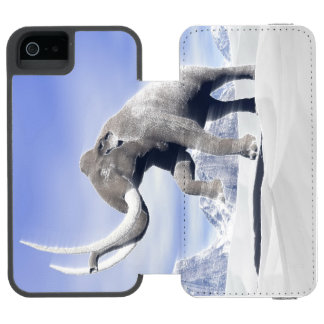 Mammoth in the wind wallet case for iPhone SE/5/5s