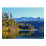 MAMMOTH LAKES AREA WITH FALL REFLECTIONS POSTER