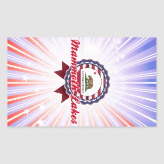 Mammoth Lakes CA Rectangular Stickers
