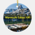 Mammoth Lakes Keepsake Double-Sided Ceramic Round Christmas Ornament