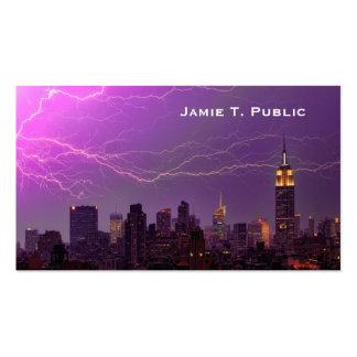 Mammoth Lightning Strike On Midtown NYC Skyline #3 Business Card