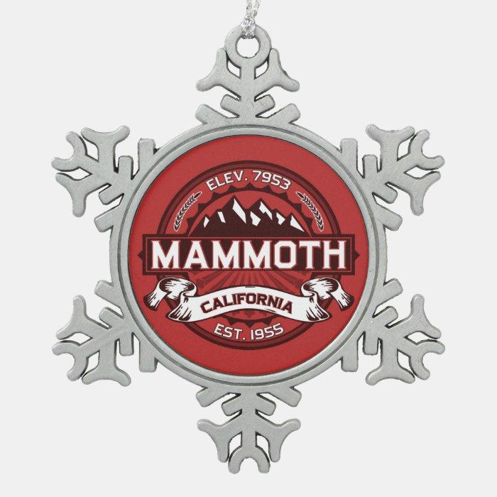 Company Logo Christmas Ornaments: Mammoth Logo Snowflake Pewter Christmas Ornament