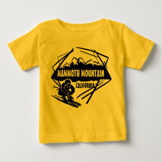 Mammoth Mountain California baby yellow ski tee