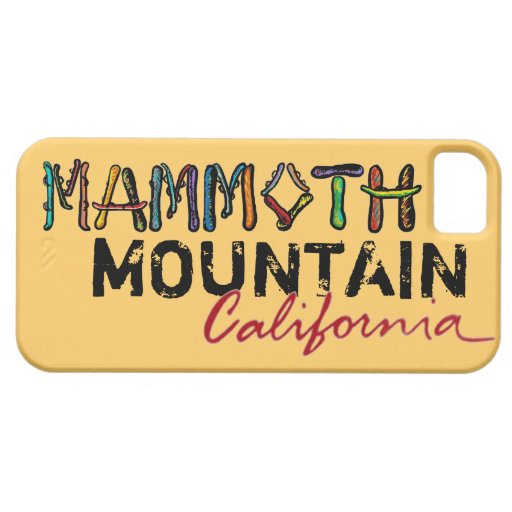 Mammoth Mountain California colorful iphone 5 case