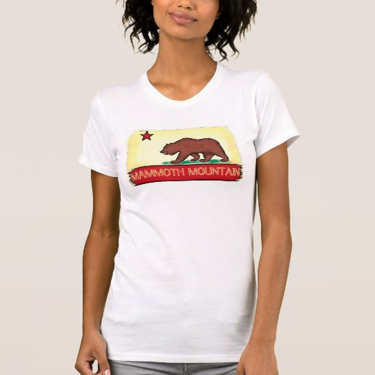 Mammoth Mountain California ladies state flag tee