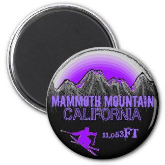 Mammoth Mountain California purple ski magnet
