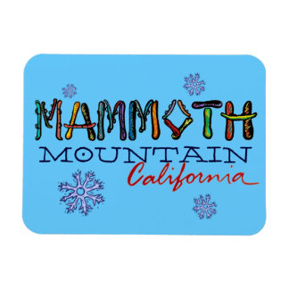 Mammoth Mountain California snowboard magnet