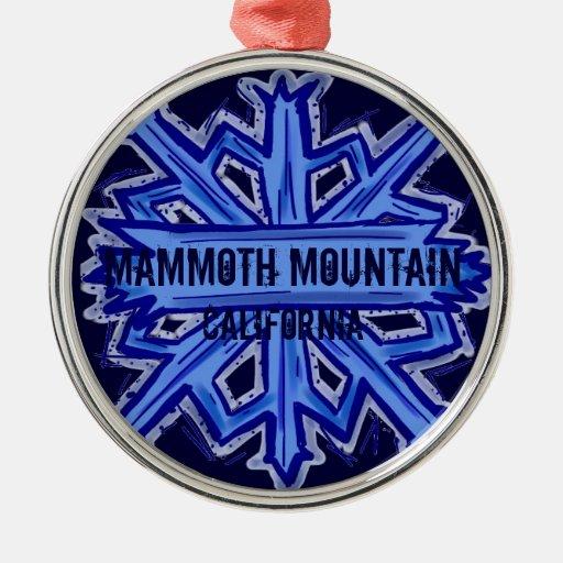 Mammoth Mountain California Snowflake Ornament Zazzle