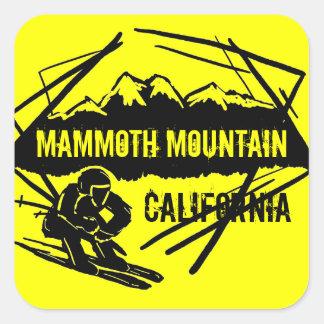 Mammoth Mountain California yellow ski stickers