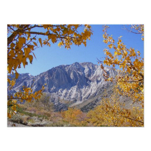 Mammoth Mountain On A Fall Day Poster