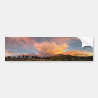 Mammoth Mountain Sunset from Minaret Summit Bumper Sticker
