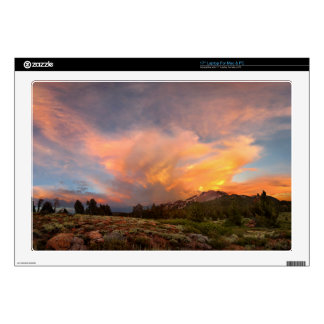 Mammoth Mountain Sunset from Minaret Summit Decals For Laptops