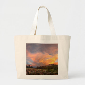 Mammoth Mountain Sunset from Minaret Summit Large Tote Bag