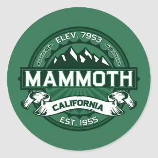 Mammoth Mtn Forest Classic Round Sticker