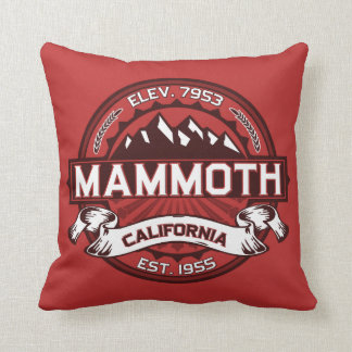 Mammoth Mtn Red Throw Pillow