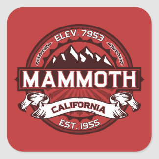 Mammoth Mtn Red Square Sticker