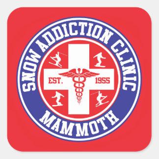 Mammoth Mtn Snow Addiction Clinic Square Sticker