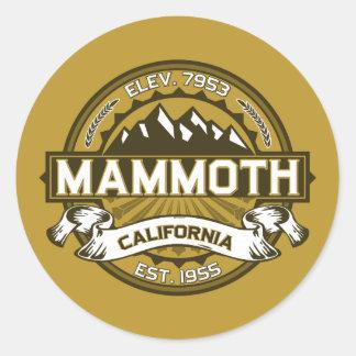 Mammoth Mtn Tan Classic Round Sticker