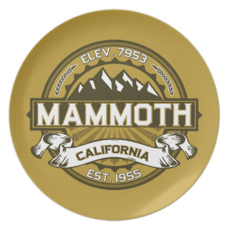 Mammoth Mtn Tan Party Plates