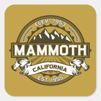 Mammoth Mtn Tan Square Sticker