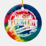 Mammoth Mtn TieDye Double-Sided Ceramic Round Christmas Ornament