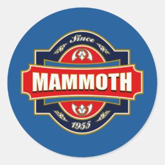 Mammoth Old Label Classic Round Sticker