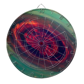 Mammoth Red Storm on Planet Saturn Dart Boards