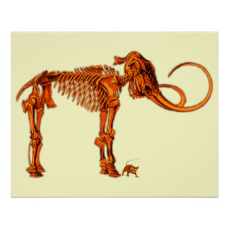 Mammoth Skeleton and Mouse Posters