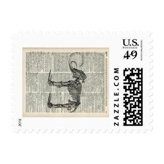 Mammoth Skielet Postage