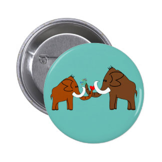 Mammoths into love pinback button