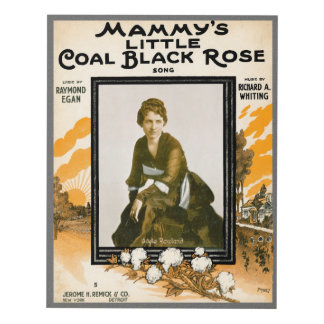 Mammy's Little Coal Black Rose Panel Wall Art