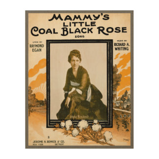 Mammy's Little Coal Black Rose Wood Wall Decor