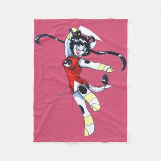 Mamono Hunter Kyau Fleece Blanket - Pink