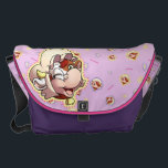 """Mamoo Messenger/Diaper Bag<br><div class=""""desc"""">A sturdy messenger bag featuring Mamoo the motherly cow. Works great as a diaper bag! Click """"Customize"""" to change the color of the messenger bag,  rearrange the design,  or to add your own name!</div>"""