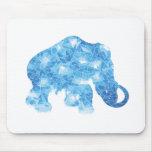Mamut cristalino azul de la edad de hielo alfombrilla de ratón