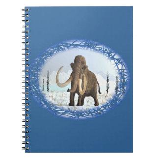 Mamut lanoso spiral notebook