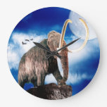 Mamut lanoso poderoso reloj de pared