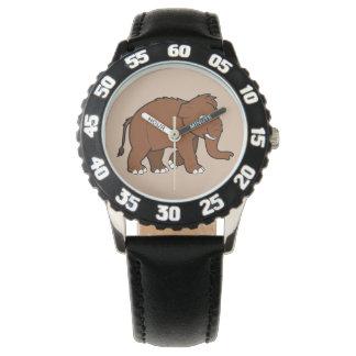 Mamut lanoso reloj de mano