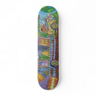 Man about to Crash Skateboard skateboard
