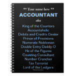 Man Accountant Add A Name Funny & Silly Job Titles Notebook