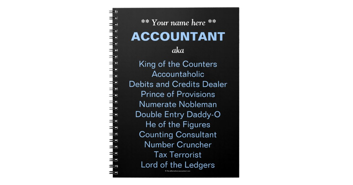 man accountant add a name funny  u0026 silly job titles spiral