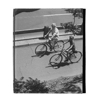 Man and Boy Cycling iPad Folio Cover