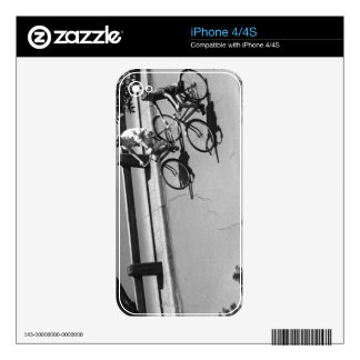 Man and Boy Cycling iPhone 4 Skins