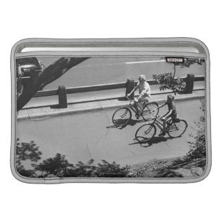 Man and Boy Cycling MacBook Air Sleeve